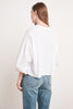 GENEVIEVE COTTON SLUB TOP IN WHITE