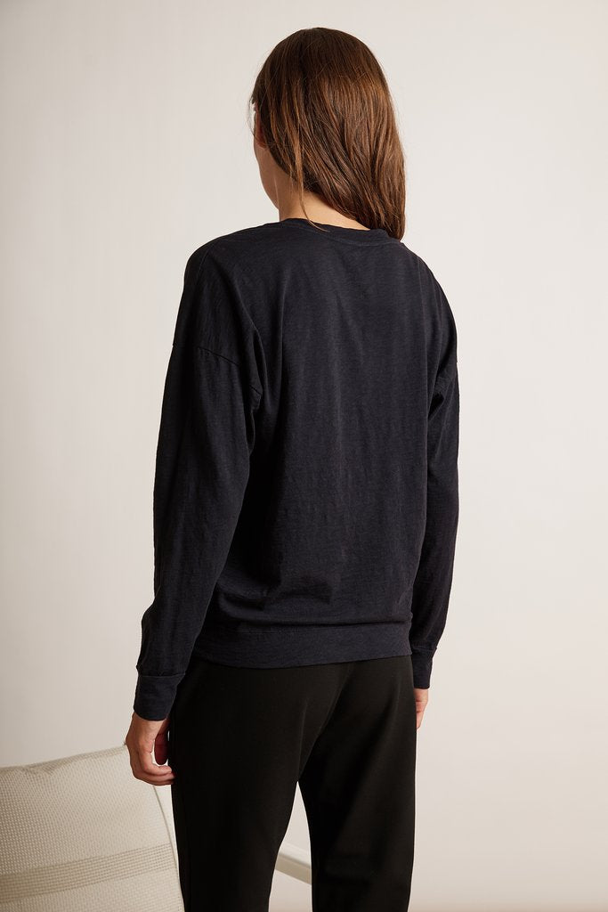 JANE COTTON SLUB TOP IN INK