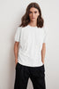 LOUISE COTTON SLUB SHORT PUFF SLEEVE TEE IN WHITE