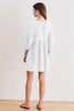 MALIA COTTON SLUB DRESS IN WHITE