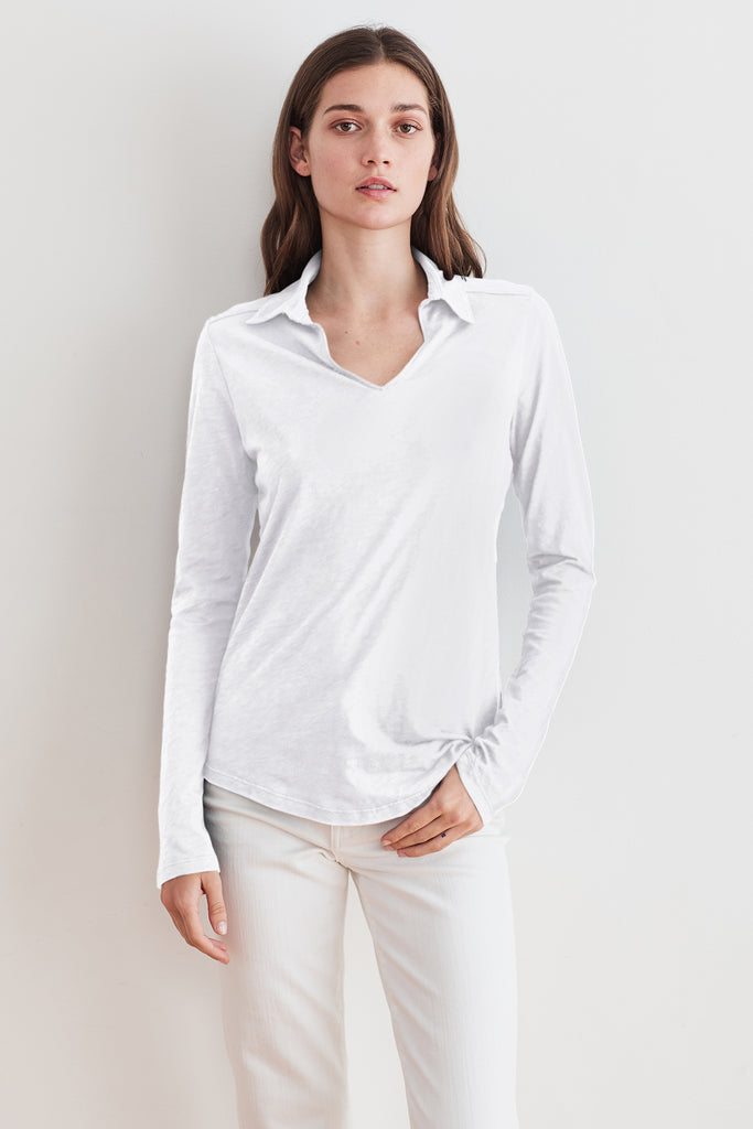 RUTH COTTON SLUB TEE IN WHITE