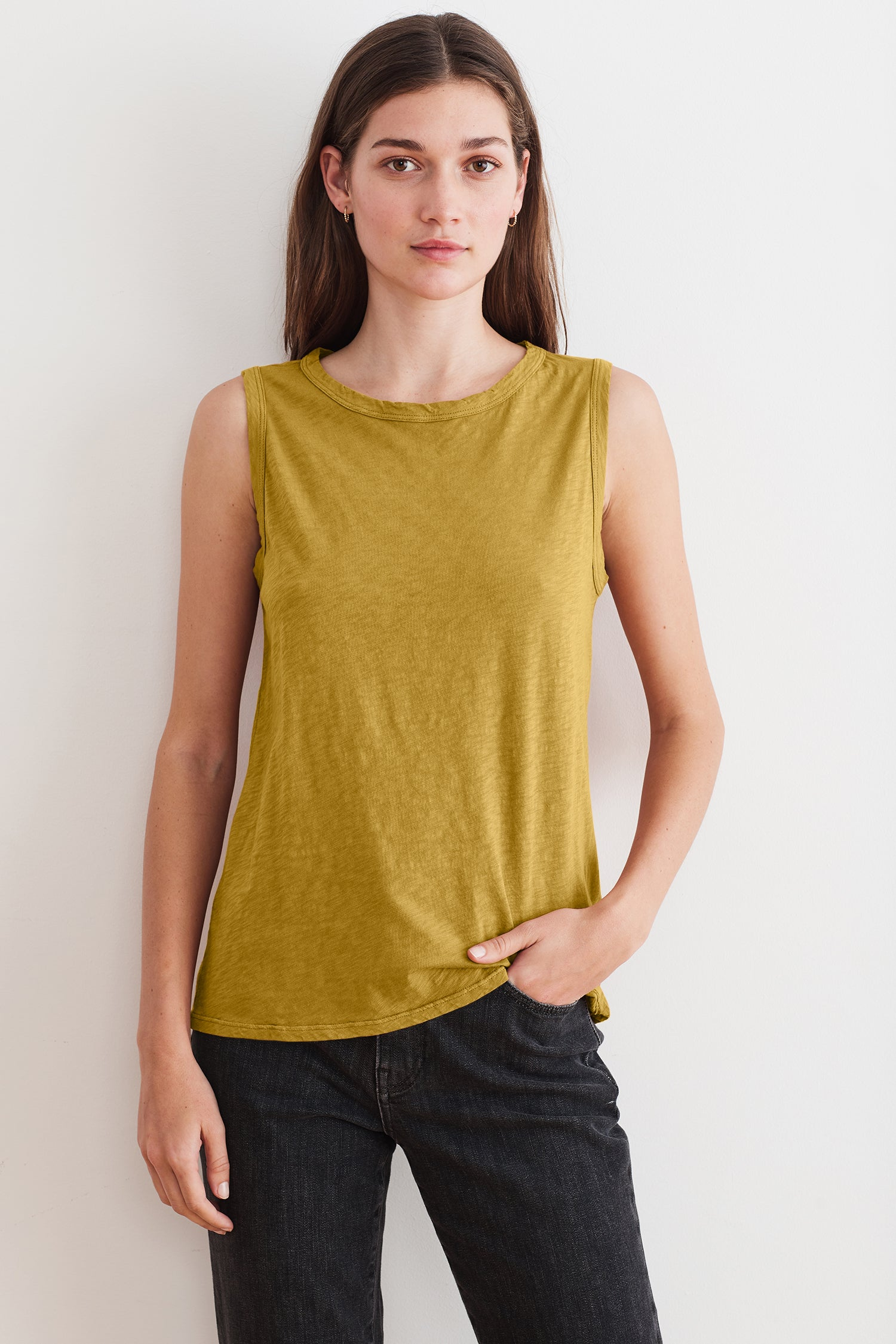 TAURUS COTTON SLUB TOP IN AMBER