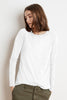 TIPPIE COTTON SLUB LONG SLEEVE TEE IN WHITE
