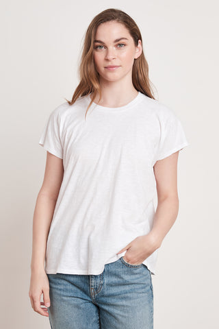 TOOTSI COTTON SLUB TOP IN WHITE