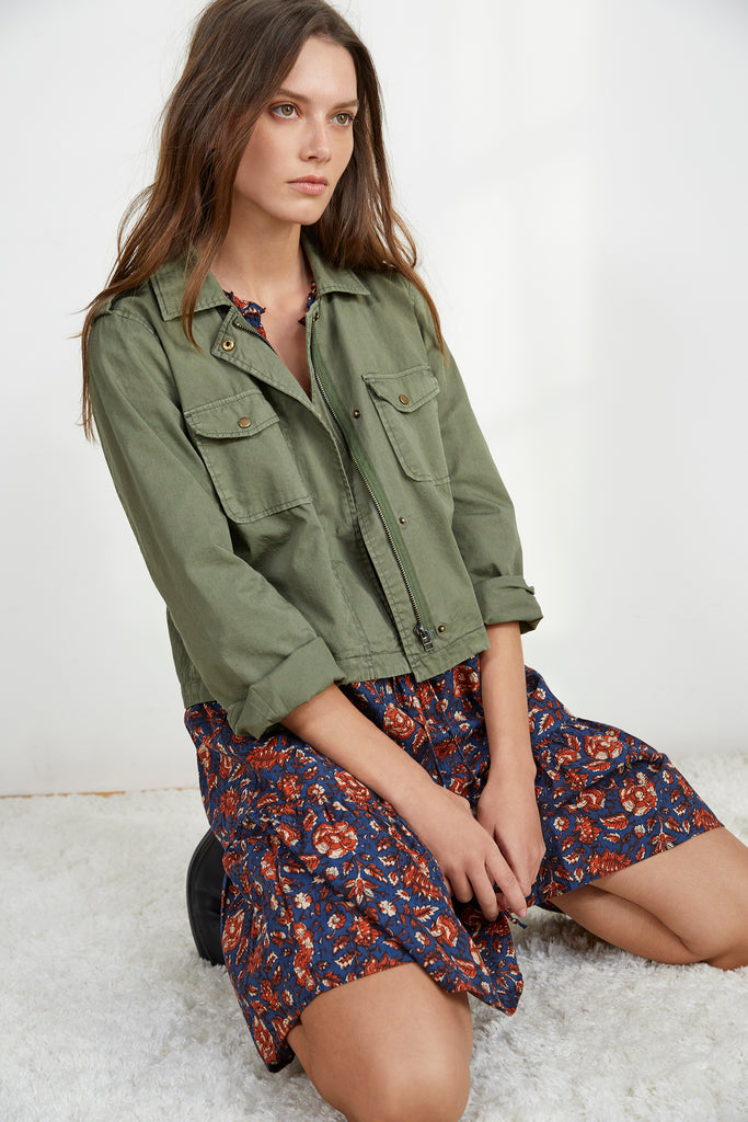 DIXIE CROPPED ARMY JACKET IN FOREST