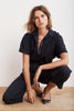 MILANA SHORT SLEEVE UTILITY JUMPSUIT IN GENESIS