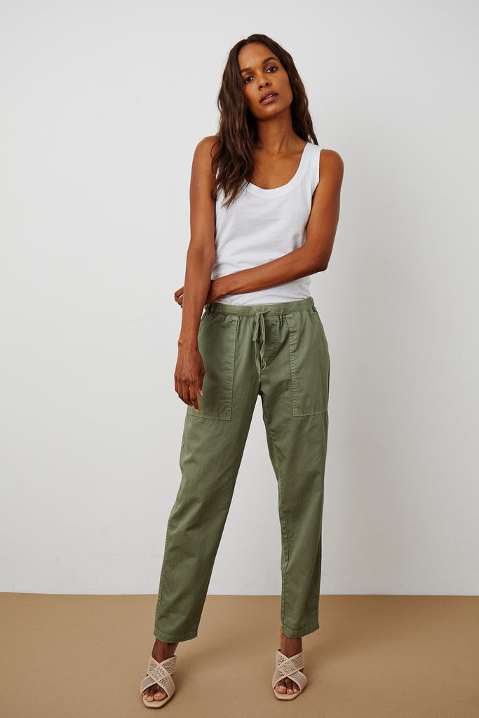 MISTY PANT COTTWILL IN SAGE