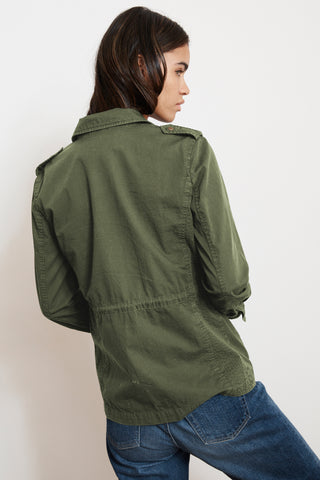 RUBY COTTON TWILL JACKET IN FOREST