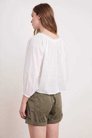 ORI COTTON VOILE TOP IN WHITE