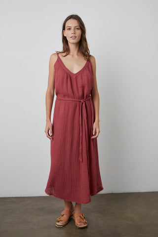 KAYLE COTTON GAUZE DRESS IN COSMOS