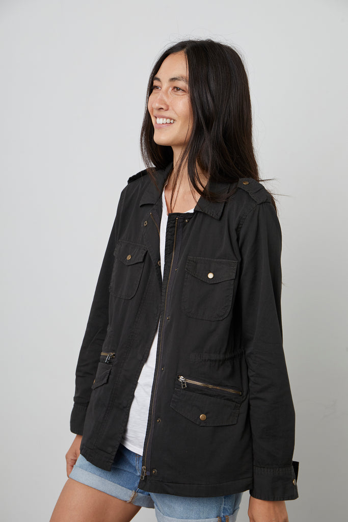 RUBY ARMY JACKET IN ONYX