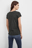 ODELIA COTTON SLUB CREW NECK TEE IN ELEPHANT