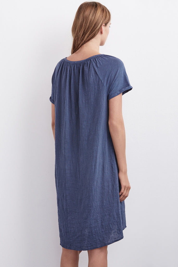 ALIXE COTTON GAUZE CONTRAST DRESS IN PARASA