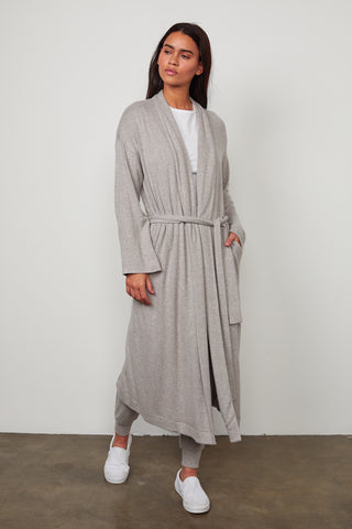 NOVA COZY LUX LONG CARDIGAN IN GREY