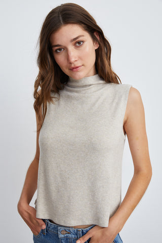 RAYANNE SLEEVELESS TOP IN OATMEAL