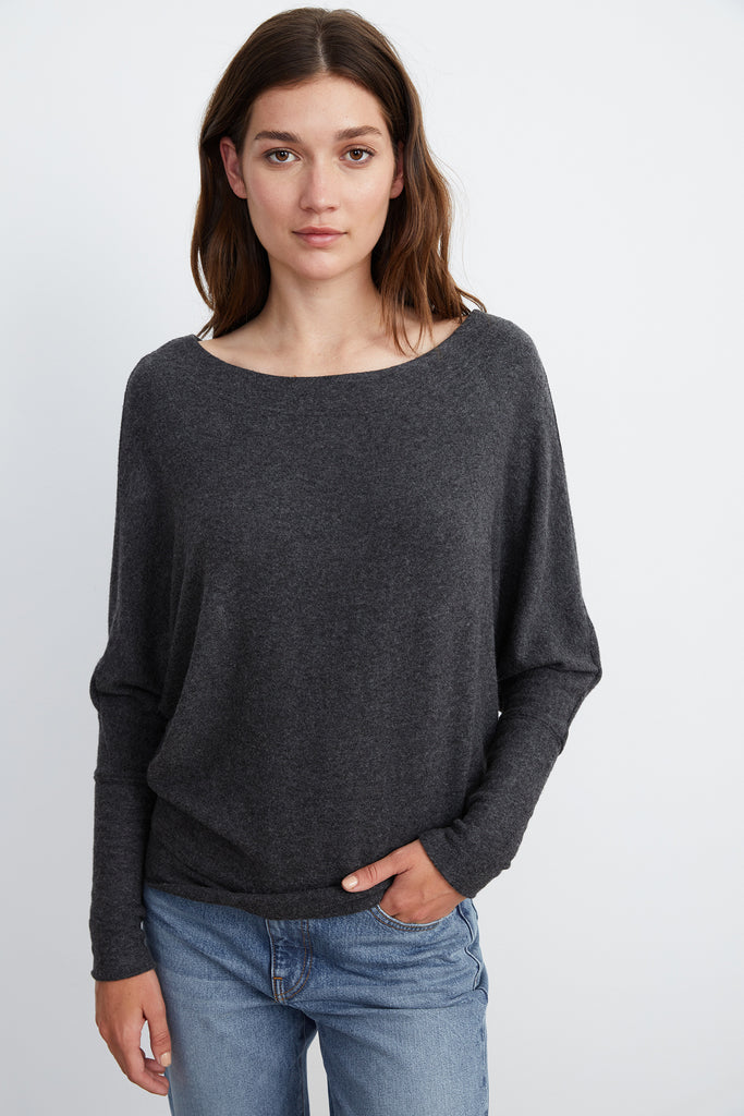 ULANI COZY LUX TOP IN ANTHRACITE