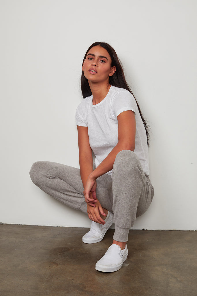 ZOLIA COZY LUX JOGGER IN GREY