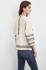 BILLEE EMBROIDERED JACKET IN CREAM