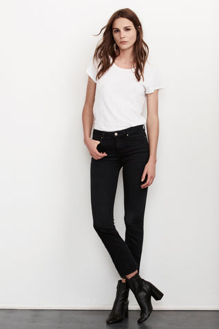 KATE HIGH RISE CROP JEANS in Onyx