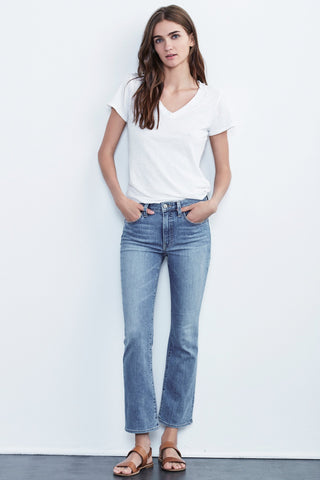 KATE HIGH RISE CROP JEANS IN ATLAS