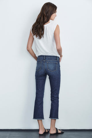 TWIGGY HIGH RISE CROP JEAN IN CLASSIC