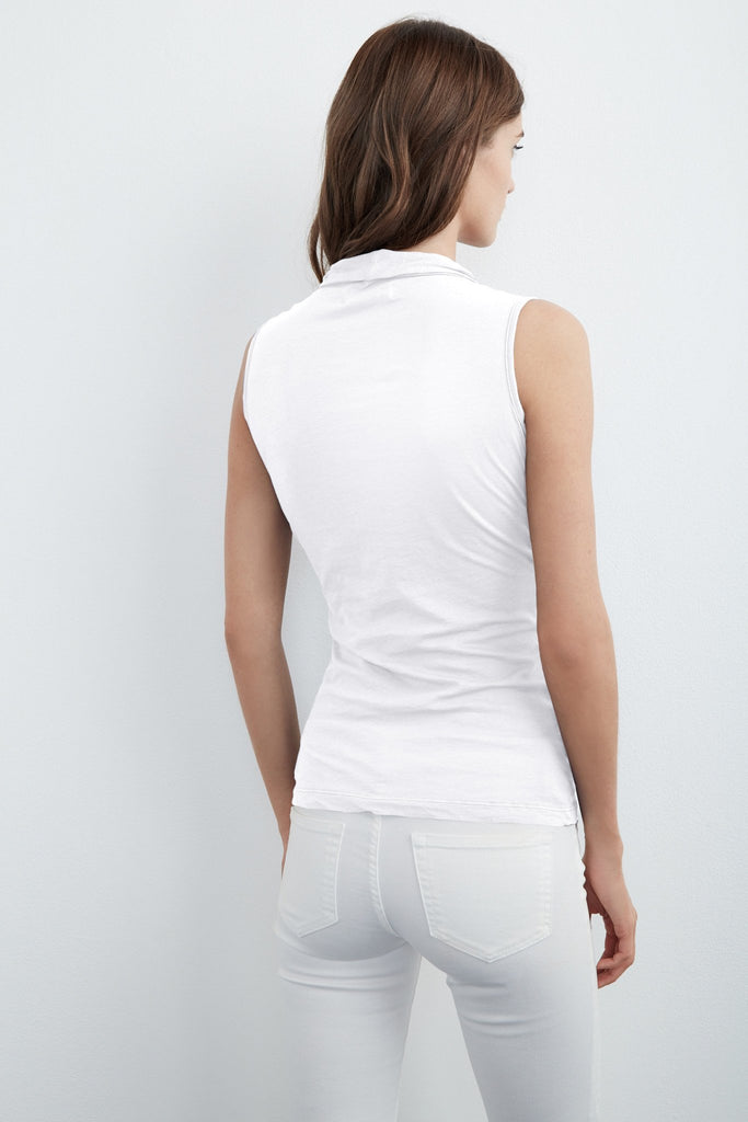 ADELISE GAUZY WHISPER WRAP TANK IN WHITE
