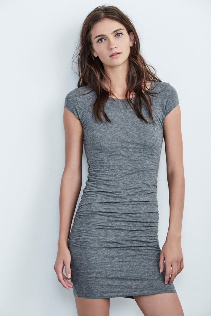 CIROC GAUZY WHISPER DRESS IN GREY