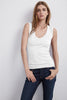ESTINA GAUZY WHISPER TANK TOP IN WHITE