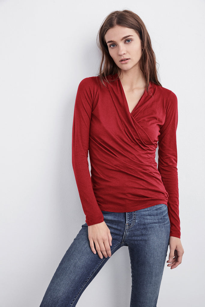 MERI WRAP FRONT TOP IN CAYENNE