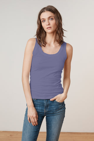 MOSSY TANK TOP IN BAYBERRY