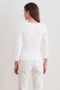 ROSA GAUZY WHISPER TOP IN WHITE