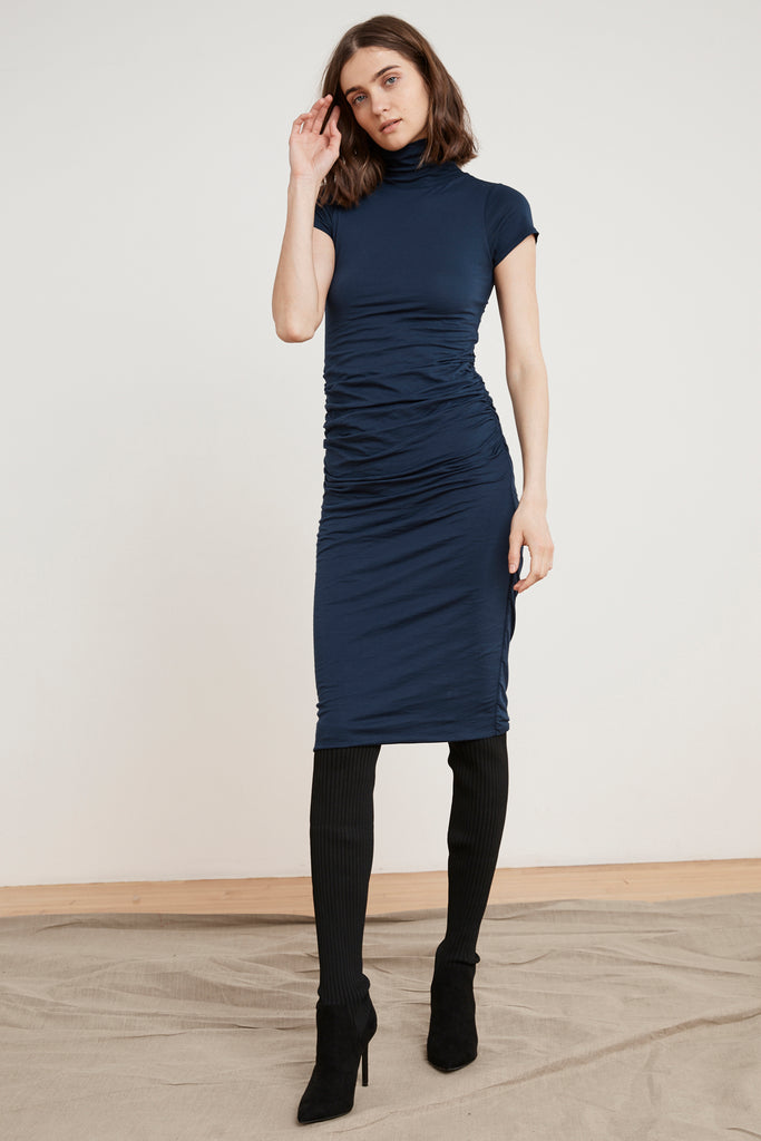 VALDA GAUZY WHISPER DRESS IN MIDNIGHT