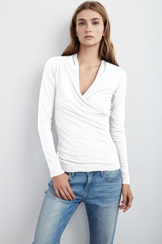 MERI WRAP FRONT TOP IN WHITE