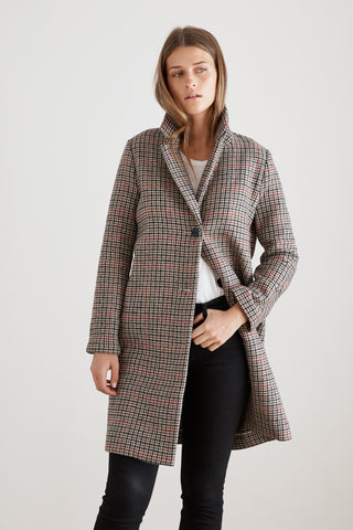 GRAHAM HOUNDSTOOTH COAT IN MULTI