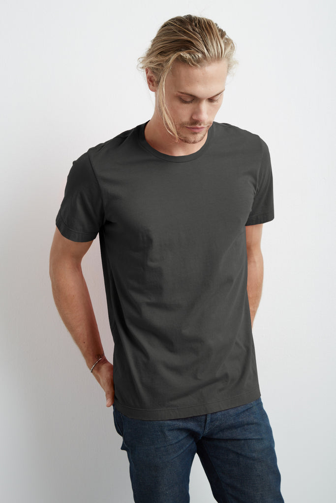 HOWARD WHISPER CLASSIC CREW NECK TEE IN EXHAUST