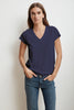 JILL SHORT SLEEVE V-NECK TEE IN ATLAS