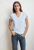 JILL CITY COTTON SLUB T-SHIRT IN ANCHOR