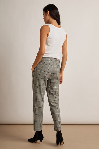 ABIGAIL BRENLEY PANTS IN BLUE PLAID