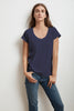 KATIE SHORT SLEEVE SCOOP NECK TEE IN ATLAS