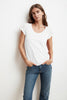 KATIE CITY COTTON SLUB T-SHIRT IN WHITE
