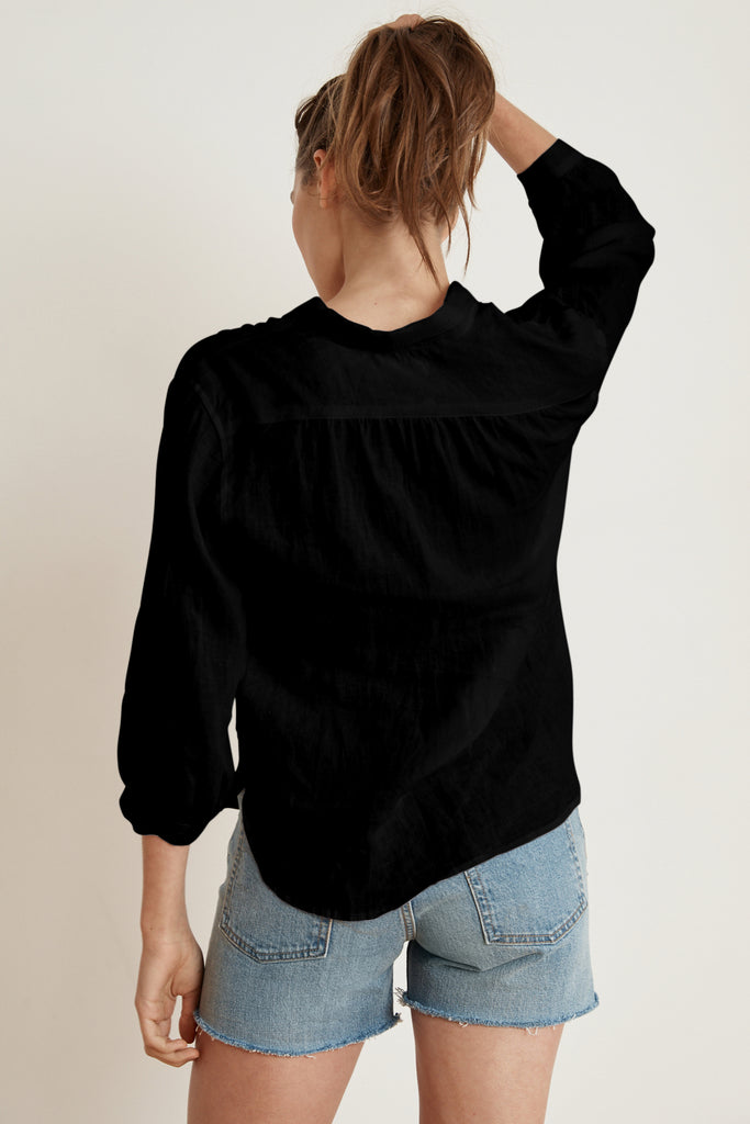 KIM LINEN SHIRT IN BLACK