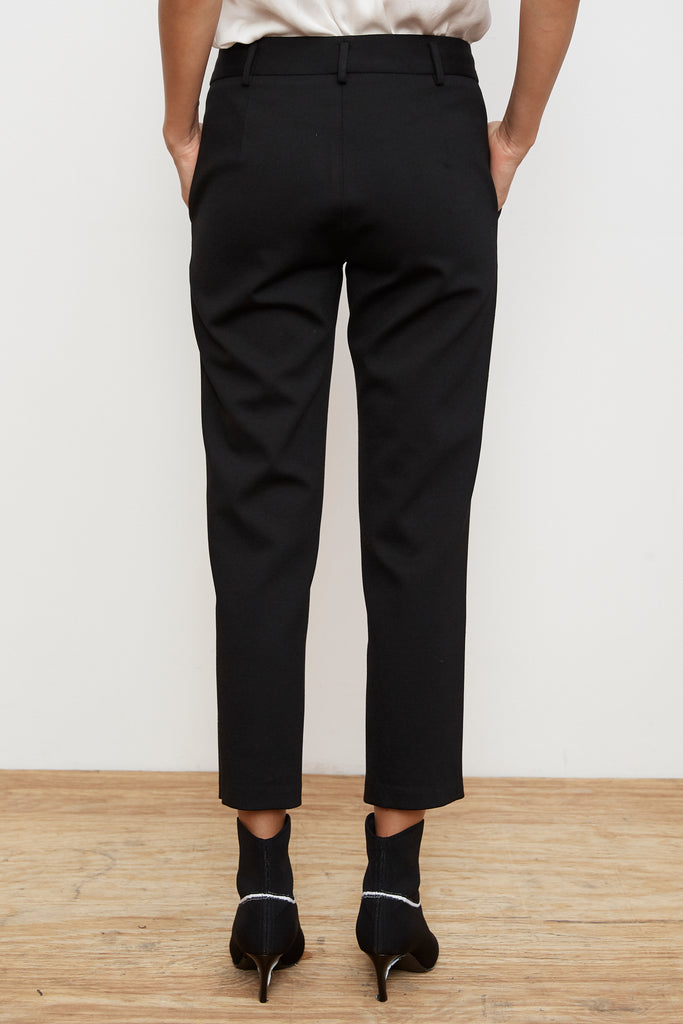 CICELY STRAIGHT LEG PONTI PANT IN BLACK