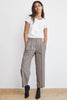 BENNI HIGH-WAIST PLAID PANT IN MULTI