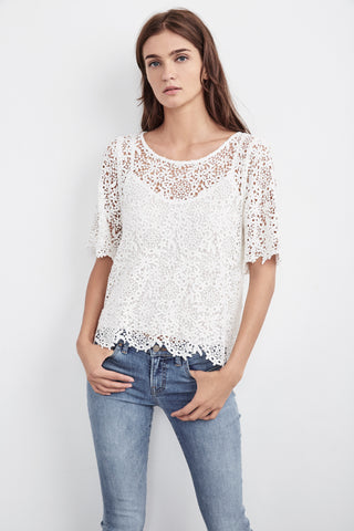 COLLEEN LACE TOP IN WHITE