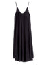 LILAC COTTON GAUZE TANK DRESS IN BLACK