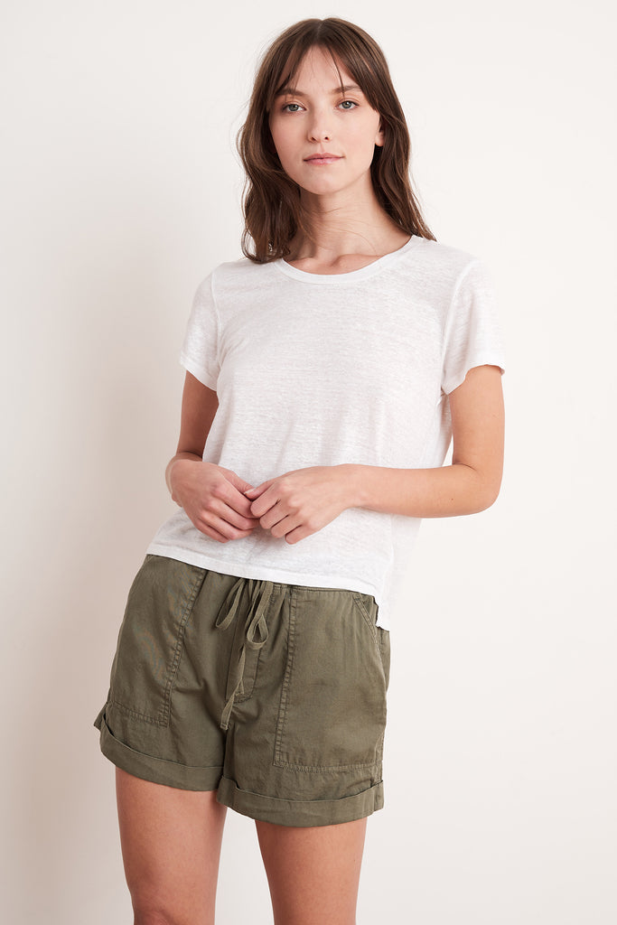 TENLEY COTTON TWILL SHORT IN FOREST