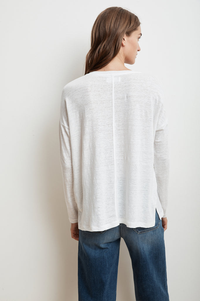 MYA LONG SLEEVE TEE IN WHITE