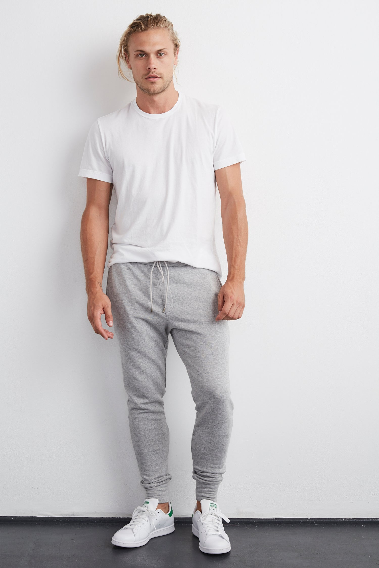 CROSBY LUXE FLEECE JOGGER IN Heather Grey