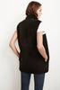 VALETTA REVERSIBLE LUX SHERPA VEST IN BLACK