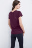 COURTNEY LUX SLUB CREW NECK TEE IN EGGPLANT